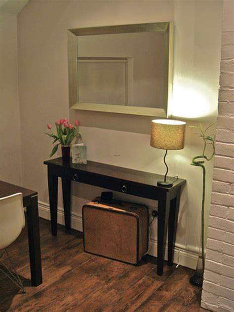 Narrow Console Table For Tiny Hallway Plan  Traba Homes. Coffee Tables. Build Your Own Adjustable Standing Desk. Home Depot Outdoor Table. 12 Person Table. Ikea Gerton Desk. White Distressed Coffee Table. Black And Gold Desk. Telecommute Help Desk Jobs