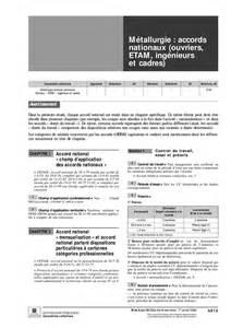 convention collective nationale des ingenieurs et cadres de la metallurgie 2014 ccmr