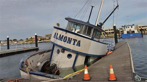 lukin family tuna boat sinks in port lincoln marina the