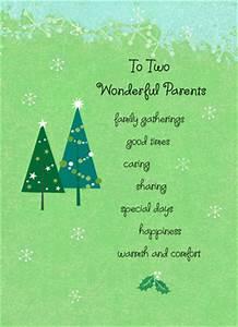 Wonderful Christmas Parents Christmas Card | Cardstore
