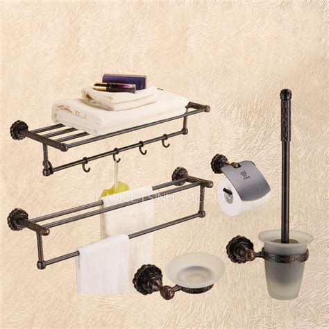 best rubbed bronze 5 set bathroom accessory sets with hooks