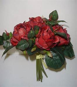 New Tied Bundle / Bouquet x7 Stems Queen Roses Artifical ...
