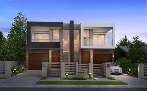 Luxury Modern Duplex Home Plans — Modern House Plan