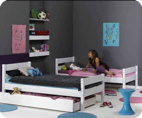 pack lit superpos 233 enfant 1 2 3 blanc 90x190 cm avec 2 matelas