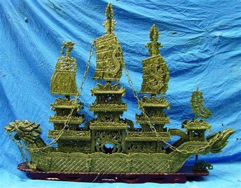 Jade Dragon Boat Carving by Dragon Boat Jade Dragon Ship Dragon Boats Carving Stone