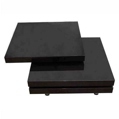 New Modern Coffee Table High Gloss Finish Black 3 Layers