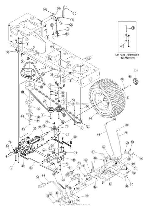mower belt diagram for troy bilt bronco toro lawn mower