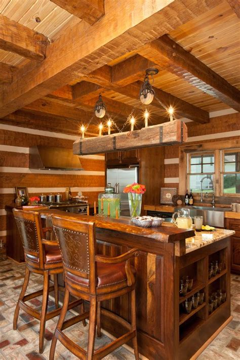 log cabin kitchen house ideas decorating