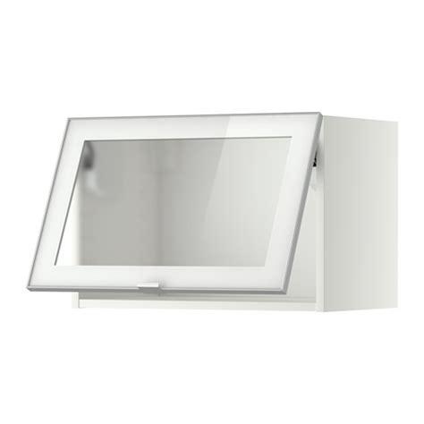 metod wandschrank horiz m vitrinent 252 r wei 223 jutis frostglas aluminium 60x40 cm ikea