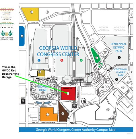 gwcc deck parking at 310 andrew intl blvd nw