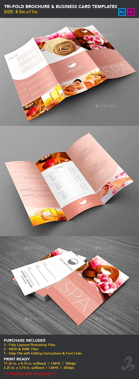Tri Fold Business Cards Template tri fold brochure business card templates spa cards