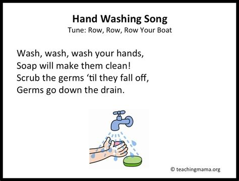 Wash Wash Wash Your Hands Song To Row Row Row Your Boat Lyrics 10 preschool transitions songs and chants to help your