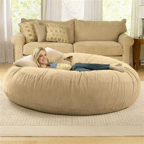 6ft jaxx cocoon microsuede bean bag chair from brookstone