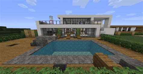 map minecraft maison moderne images