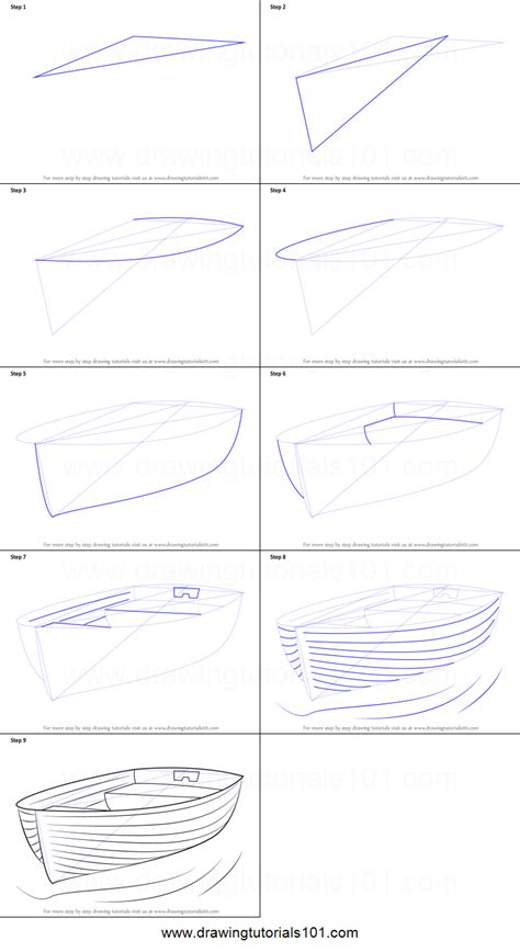 How To Draw A Dragon Boat by How To Draw Boat At Dock Printable Step By Step Drawing