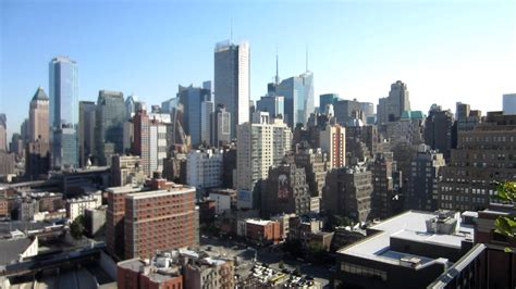 new york city view from building roof top deck