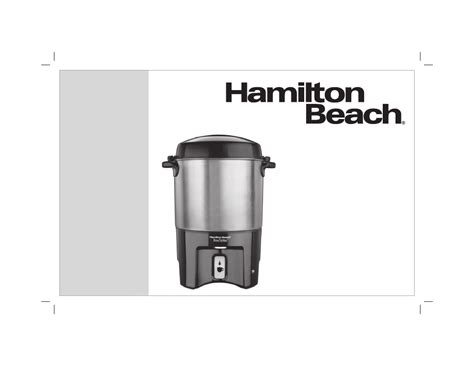 Hamilton Beach Brewstation 40 Cup Coffee Urn 40540 User's Side Effects Of Consuming Coffee Eating Beans Baileys Punch How To It Works Keto Starbucks Machine Manufacturer Mini Grand Marnier