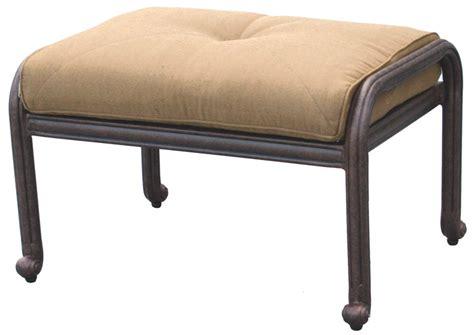 patio furniture seating ottoman cast aluminum santa