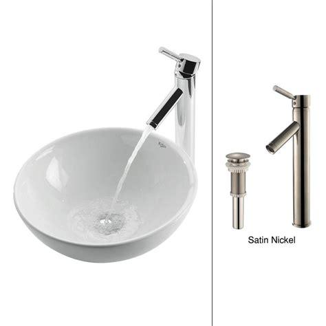 Home Depot Kraus Vessel Sink by Kraus Soft Ceramic Vessel Sink In White With Sheven