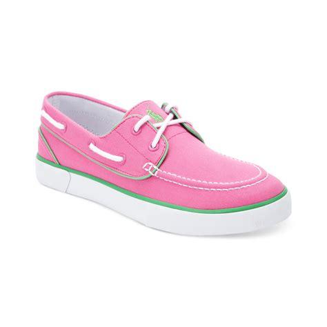Pink Boat Shoes For Men by Ralph Lauren Lander P Boat Shoes In Pink For Men Maui