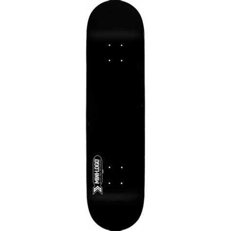 mini logo small bomb skateboard deck 126 black 7 625 x