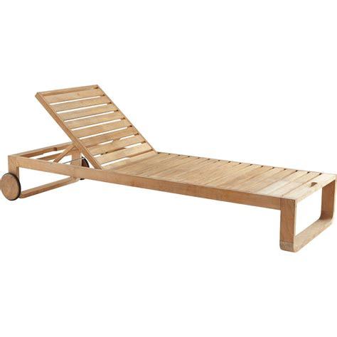 bain de soleil de jardin en bois resort naturel leroy merlin