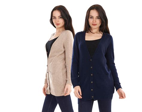 Ladies M&s Navy Stone Angora Long Sleeve Womens Wool Boyfriend Cardigan