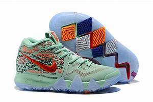 "2018 Nike Kyrie 4 ""What The"" Red and Green Men's ..."