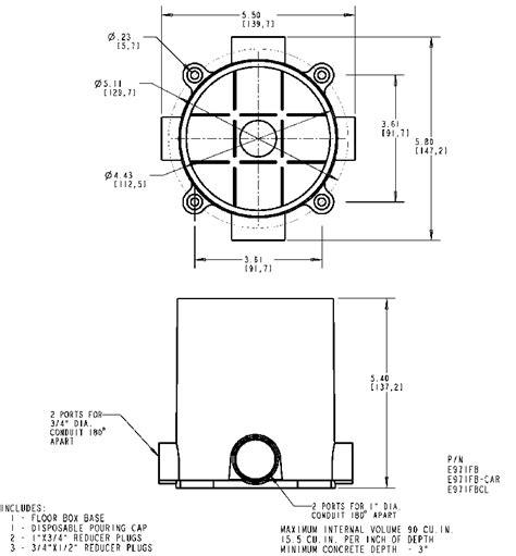 Carlon Floor Box E971fb by Carlon E971fb Floor Box Base