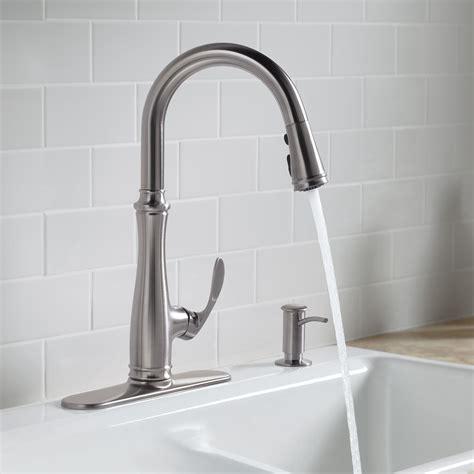kohler k 560 2bz bellera pull kitchen faucet