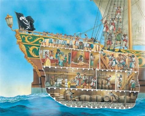 Boat Crew In Spanish by A Cutaway Illustration Of Pirate Life Pirates
