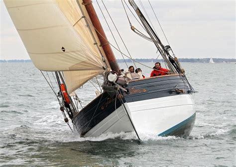 Amelie Rose Boat by Luke Powell Gaff Cutter Replica Pilot Cutter For Sale