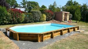 photo piscine bois semi enterr 233 e leroy merlin