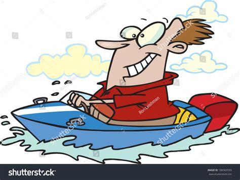 Cartoon Man In A Boat by Cartoon Man Driving Boat Stock Vector 189369599 Shutterstock