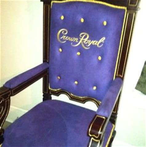 crown royal purple velvet and wood throne chair