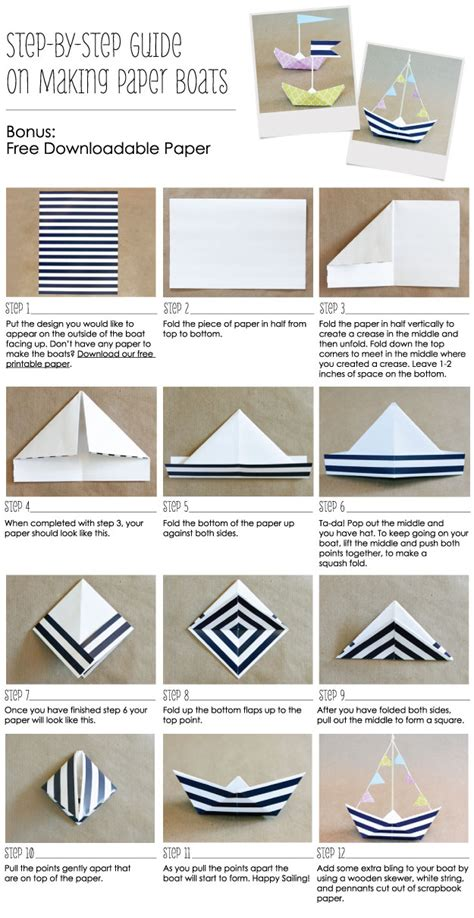How To Make A Paper Boat Step By Step With Pictures by How To Make A Paper Boat Anchor Nautical Party Ideas