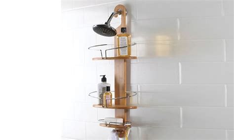 bamboo bath caddy nz bamboo shower storage caddy groupon goods