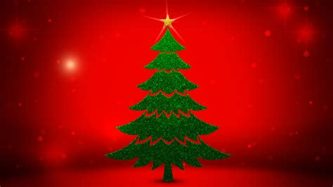 Christmas Tree Background 1600x900