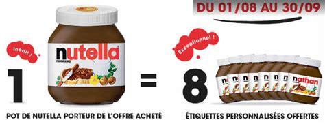 op 233 ration un pot nutella achet 233 8 233 tiquettes personnalis 233 es pr 233 nom offertes