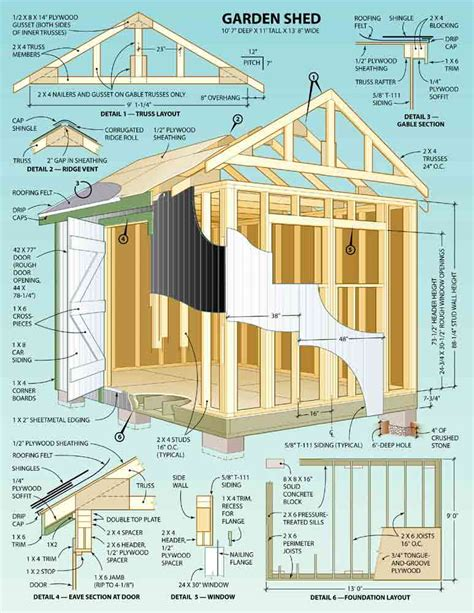 shed construction plans how to build diy by 8x10x12x14x16x18x20x22x24 blueprints pdf shed