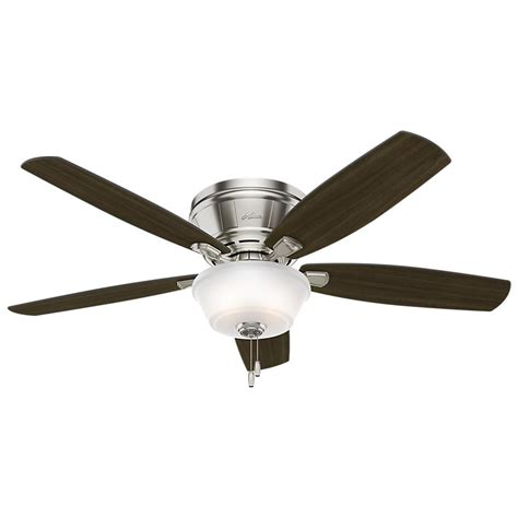 Low Profile Ceiling Fan by Estate Winds 56 In Indoor Brushed Nickel Low