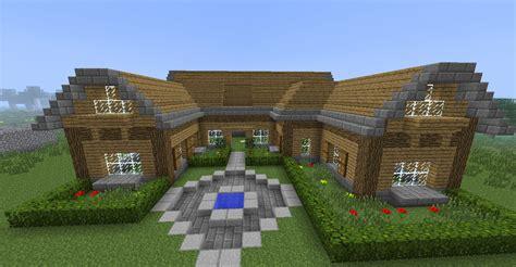 minecraft maison en bois et en