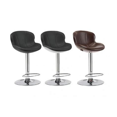 vente unique lot de 2 tabourets de bar smiley simili noir pas cher achat vente