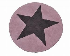 Rosa Grau Teppich : biokinder wende teppich rund mit stern rosa grau aus baumwolle lorena canals ~ Markanthonyermac.com Haus und Dekorationen