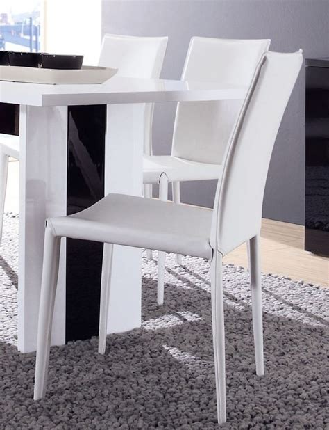 chaise blanche de salle a manger sedgu