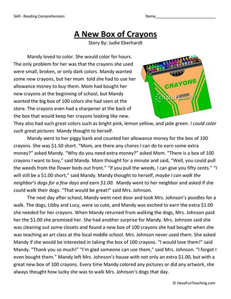 Reading Comprehension  Have Fun Teaching