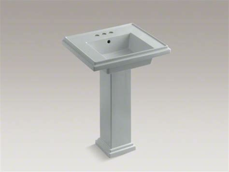 kohler tresham r 24 quot pedestal bathroom sink with 4 quot centerset faucet holes contemporary