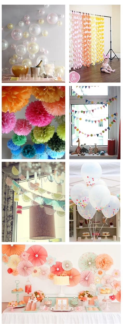 Ideas For Homemade Party Decorations