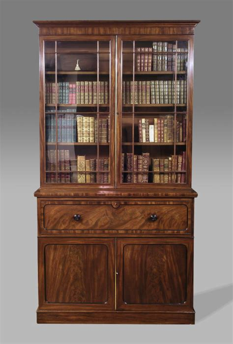 Antique Secretaire Bookcase, Victorian Secretaire Bookcase