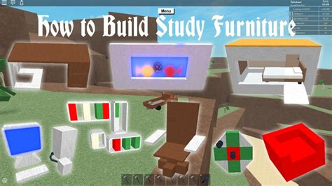 Lumber Tycoon 2  How To Build Study Furniture Youtube